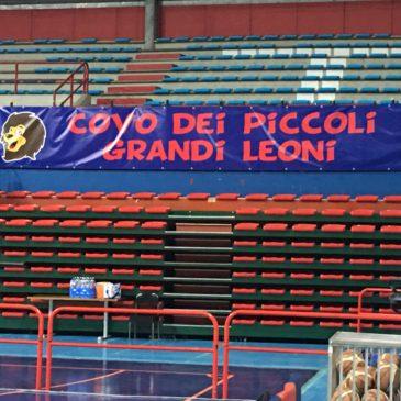 Striscione per la squadra di Basket di Montecatini
