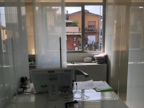 Parafiato da banco in plexiglass covid19